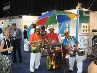Calypso Trio + BandOnWheels - Roving Between Covention Cre Displays