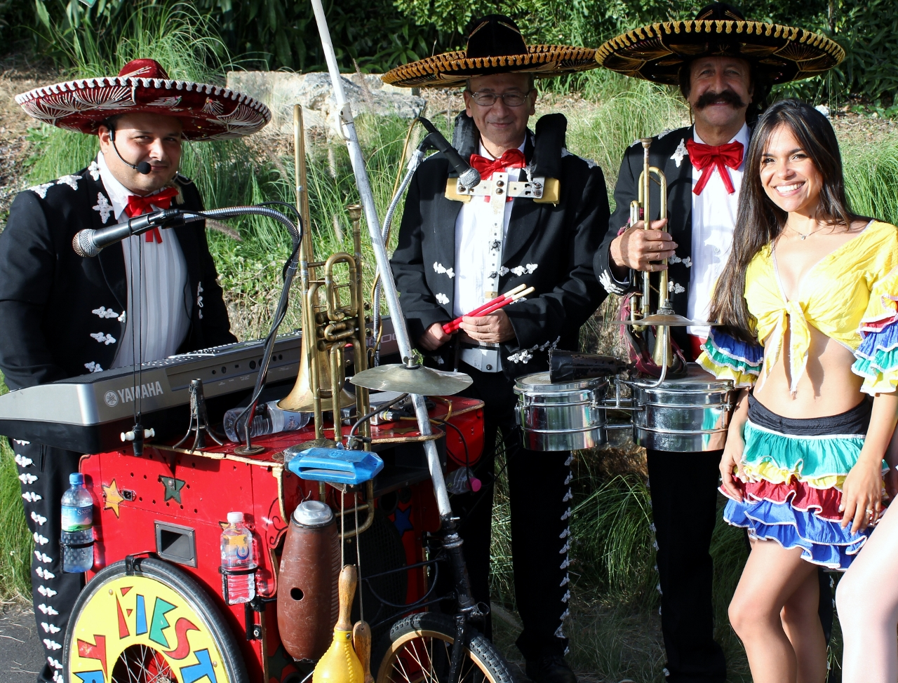 Mexican Mariachi Fiesta Band On Wheels